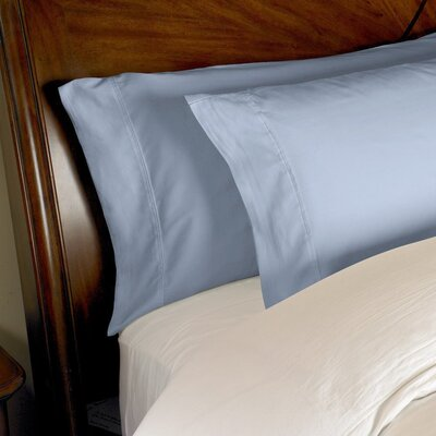 Omar 1000 Thread Count Egyptian-Quality Cotton Pillowcase Set Size: Standard, Color: Medium Blue