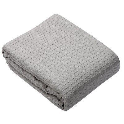 Greene Classic All Seasons Super Soft Lightweight Cotton Blanket Color: Light Gray, Size: Queen