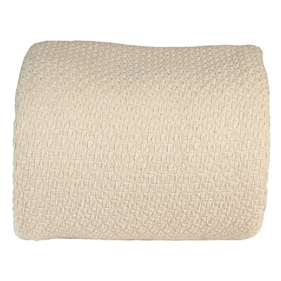 Greene Super Soft Cotton Blanket Color: Taos Sand, Size: Twin