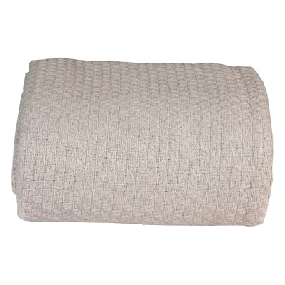 Greene Super Soft Cotton Blanket Color: Glacial Gray, Size: Twin