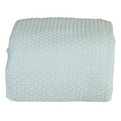 Greene Super Soft Cotton Blanket Size: King, Color: Canal Blue
