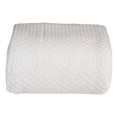 Greene Super Soft Cotton Blanket Size: Queen, Color: White