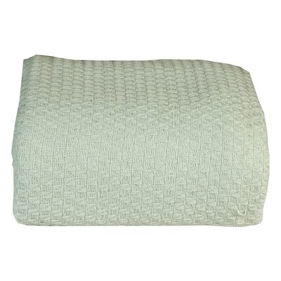 Greene Super Soft Cotton Blanket Size: King, Color: Surf Spray Green