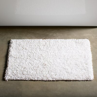 Keats 100% Cotton Chenille Shaggy Spray Latex Back Bath Rug Size: 30 H X 20 W, Color: White