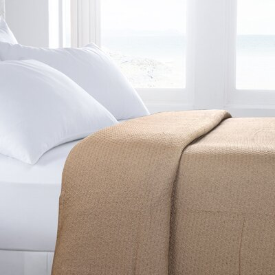 Greene Classic All Seasons Super Soft Lightweight Cotton Blanket Color: Linen, Size: Queen