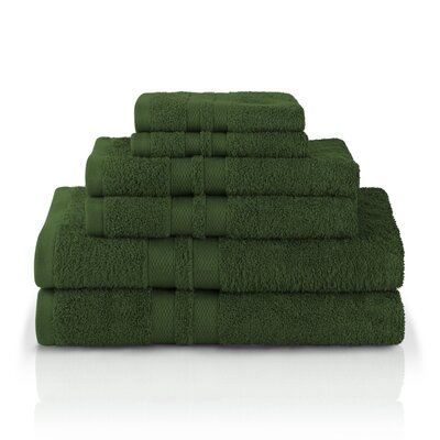 Patric Ultra Soft 6 Piece Towel Set Color: Forest Green
