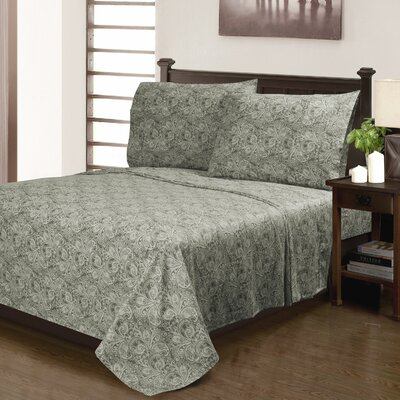 Burkes 300 Thread Count 100% Cotton Sheet Set Size: Full, Color: Gray