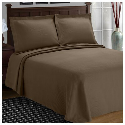 Benito Diamond Solitaire Matelasse Bedspread Size: King, Color: Taupe