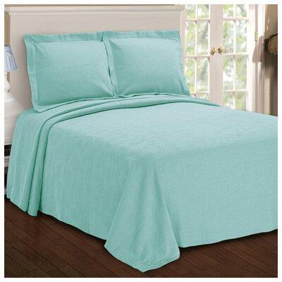 Benito Paisley Jacquard Matelasse Bedspread Size: Full, Color: Aqua