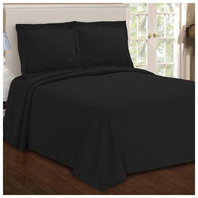 Benito Paisley Jacquard Matelasse Bedspread Size: Twin, Color: Black