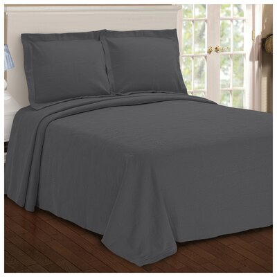Benito Paisley Jacquard Matelasse Bedspread Size: Queen, Color: Gray
