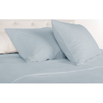 Agata 300 Thread Count 100% Tencel Sheet Set Size: King, Color: Madras Blue