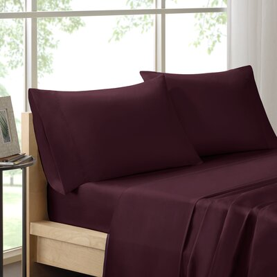 Poe 600 Thread Count Pima Solid Cotton Sheet Set Size: King, Color: Plum