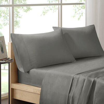 Poe 600 Thread Count Pima Solid Cotton Sheet Set Size: California King, Color: Grey