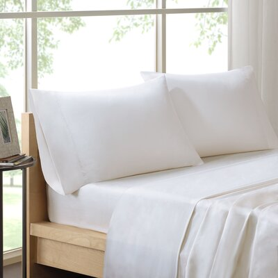 Poe 600 Thread Count Pima Solid Cotton Sheet Set Size: California King, Color: White