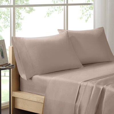 Poe 600 Thread Count Pima Solid Cotton Sheet Set Size: King, Color: Stone