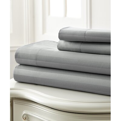 Sweetbriar 400 Thread Count 100% Cotton 3 Piece Sheet Set Color: Gray
