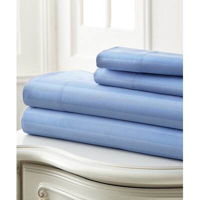 Beckett 400 Thread Count 100% Cotton 4 Piece Sheet Set Color: Light Blue