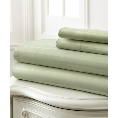 Sweetbriar 400 Thread Count 100% Cotton 3 Piece Sheet Set Color: Sage