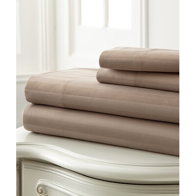 Beckett 400 Thread Count 100% Cotton 4 Piece Sheet Set Color: Taupe