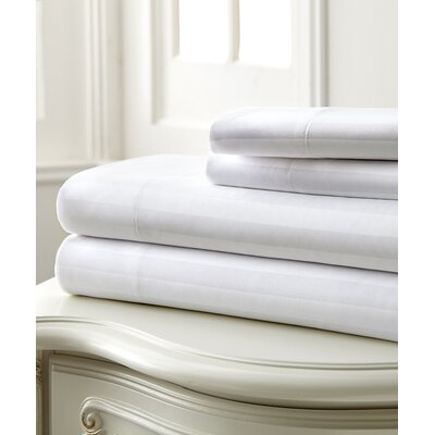 Beckett 400 Thread Count 100% Cotton 4 Piece Sheet Set Color: White