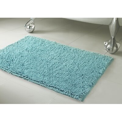 Garlyn Plush Bath Mat Size: 21 x 34, Color: Aqua