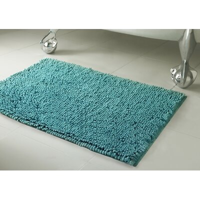 Garlyn Plush Bath Mat Size: 17 x 24, Color: Marine Blue