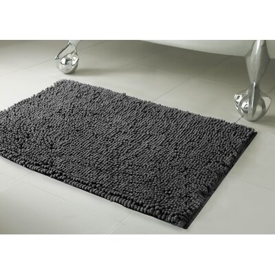 Garlyn Plush Bath Mat Size: 21 x 34, Color: Gray