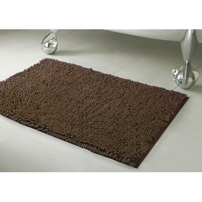 Garlyn Plush Bath Mat Size: 17 x 24, Color: Mocha