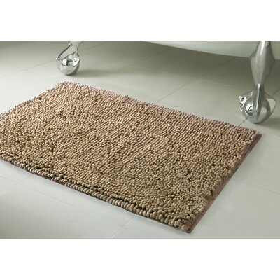 Garlyn Plush Bath Mat Size: 21 x 34, Color: Linen