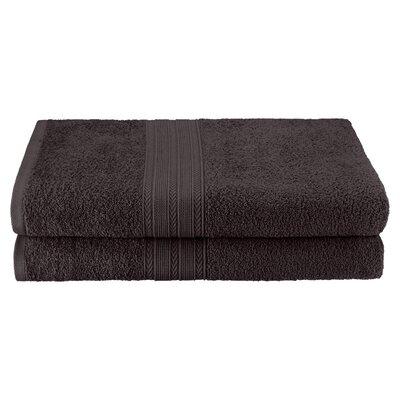 Petrie 2 Piece Bath Sheet Color: Black
