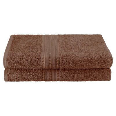Petrie 2 Piece Bath Sheet Color: Brown