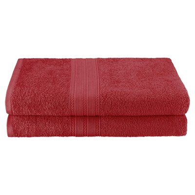 Petrie 2 Piece Bath Sheet Color: Cranberry