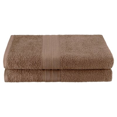 Petrie 2 Piece Bath Sheet Color: Coffee