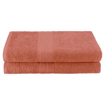 Petrie 2 Piece Bath Sheet Color: Coral