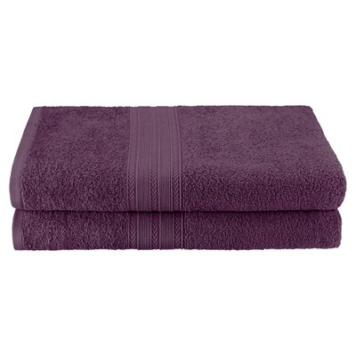Petrie 2 Piece Bath Sheet Color: Eggplant