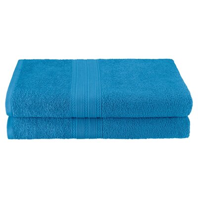 Petrie 2 Piece Bath Sheet Color: Aster Blue