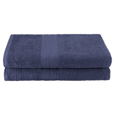 Petrie 2 Piece Bath Sheet Color: Navy Blue