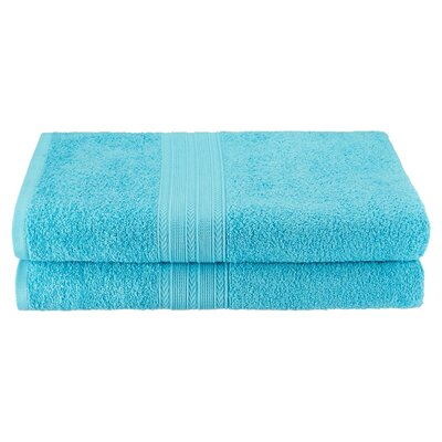 Petrie 2 Piece Bath Sheet Color: Turquoise