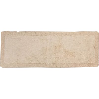 Golding 2 Piece 100% Cotton Bella Napoli Reversible Bath Rug Set Size: 24 H X 17 W and 34 H X 21 W, Color: Ivory