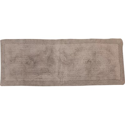 Golding 100% Cotton Bella Napoli Reversible Bath Rug Size: 34 H X 21 W, Color: Silver