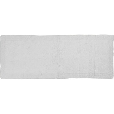 Golding 2 Piece 100% Cotton Bella Napoli Reversible Bath Rug Set Size: 24 H X 17 W and 34 H X 21 W, Color: White