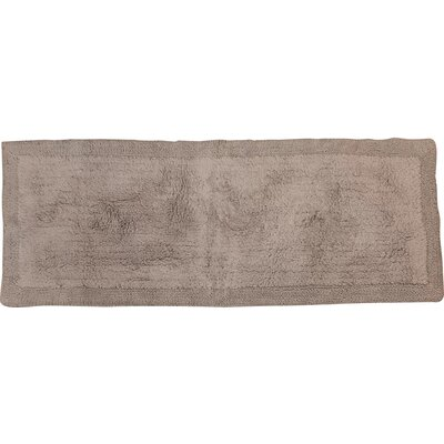Golding 2 Piece 100% Cotton Bella Napoli Reversible Bath Rug Set Size: 24 H X 17 W and 40 H X 24 W, Color: Silver
