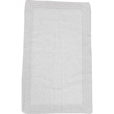 Golding 100% Cotton Bella Napoli Reversible Bath Rug Size: 24 H X 17 W, Color: White