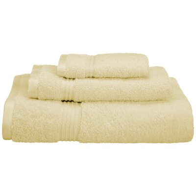 Patric 3 Piece Towel Set Color: Canary