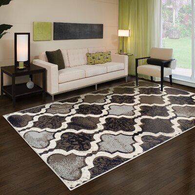 Calvin Brown/Gray/Black Area Rug Rug Size: Rectangle 4 x 6