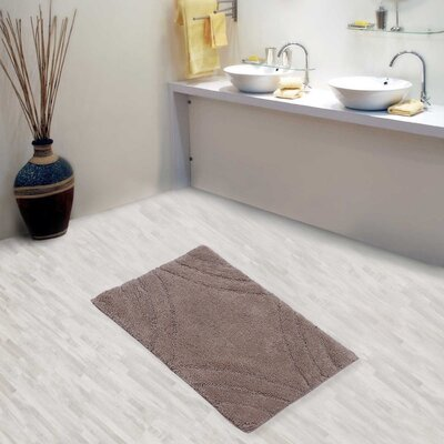 Barnes Diamond Bath Rug Size: 24 H X 17 W, Color: Stone