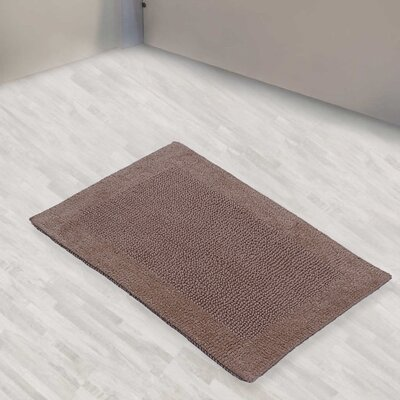 Golding 100% Cotton Bella Napoli Reversible Bath Rug Size: 40 H X 24 W, Color: Light Stone