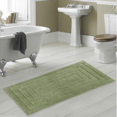 Irving 100% Cotton Racetrack Spray Latex Back Bath Rug Size: 40 H X 24 W, Color: Lt. Sage