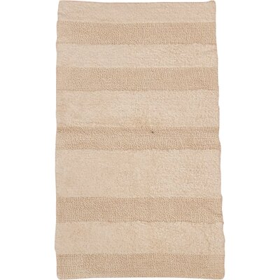 Verne 100% Cotton Wide Cut Reversible Bath Rug Size: 40 H X 24 W, Color: Ivory